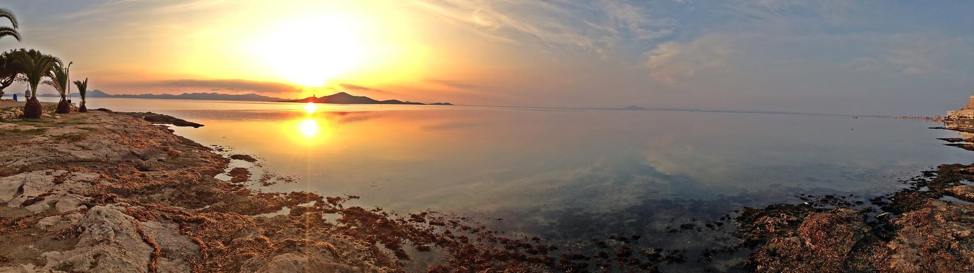 Mar Menor, puesta de sol